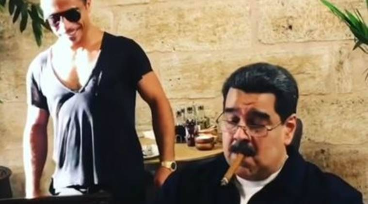 Venezuela's president feasts on steak at Salt Bae restaurant
