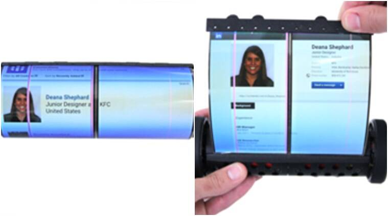 Rollable tablet PC, Queen's University Canada, MagicScroll tablet, 3D printing technology, MagicScroll cylindrical body, robotic actuators, flexible smart devices, pitcure browsing, gesture based controls