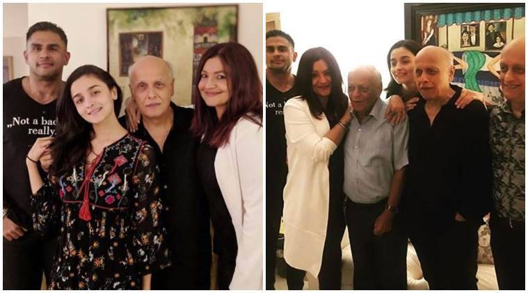 Mahesh Bhatt birthday photos family Alia Bhatt, Rahul Bhatt, Pooja Bhatt