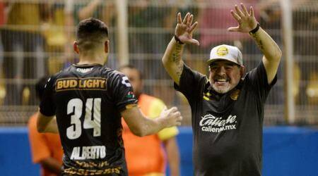 Vinicio Angulo hat-trick helps get Diego Maradona off to winning start inMexico