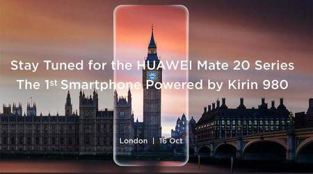 Huawei Mate 20, the first Kirin 980 device, to be unveiled on October16