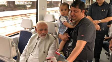 PM Modi takes Metro ride to Dwarka event