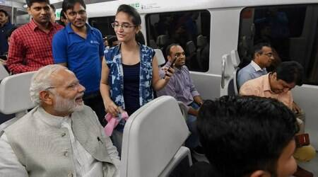 When PM Modi took Delhi's Airport Express Metro to get to an event