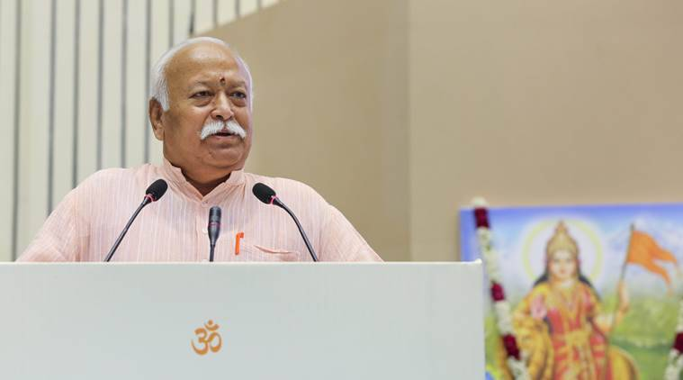 mohan bhagwat, rss chief, rss conclave, mohan bhagwat speeches, rss bjp ties, bjp leaders, rss lecture series, congress, indian express