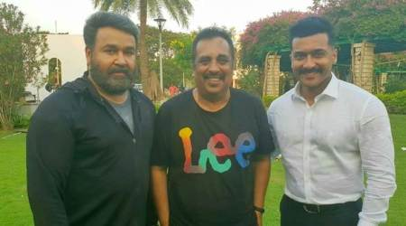 Mohanlal starts shooting with Suriya for KV Anand's film