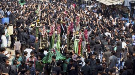 UP Muharram procession, up muharram mob, gorakhpur muharram incident, Gulhariya Bazar, up police muharram, indian express