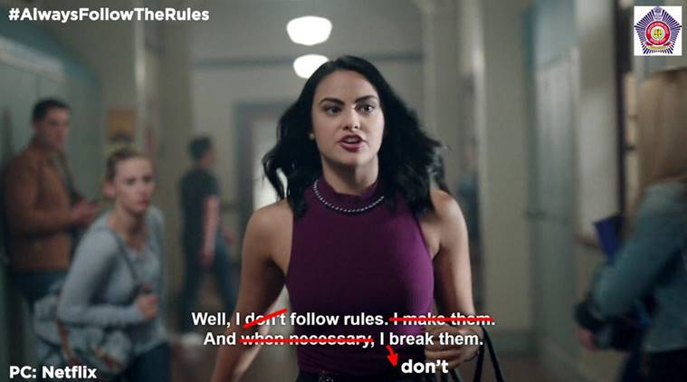 mumbai police, mumbai police tweet, mumbai police netflix tweet, mumbai police viral tweet, mumbai police twitter, indian express, indian express news
