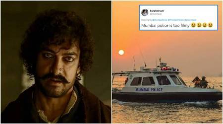 thugs of hindostan, thugs of hindostan cast, thugs of hindostan memes, Mumbai police tweets a hilarious thugs of hindostan meme, Amitabh Bachchan, Aamir Khan, Katrina Kaif, Fatima Sana Shaikh, Bollywood memes, Bollywood movies, Bollywood funny memes, indian express, indian express news
