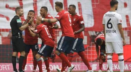 Arjen Robben volley sets up Bayern Munich win after earlyshock