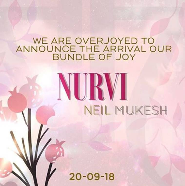 Neil Nitin Mukesh Rukmini daughter Nurvi