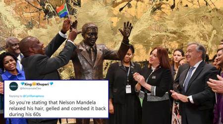 Netizens say Nelson Mandela's statue unveiled at UN headquarters doesn't look like him
