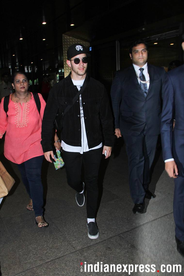 nick at mumbai airport