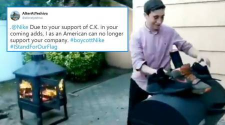 Why some Americans are burning and damaging Nikeproducts
