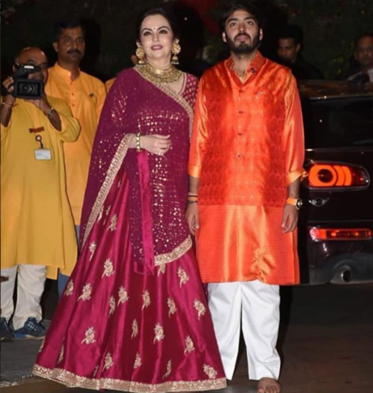 Nita Ambani with son Akash Ambani