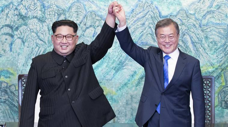 South Korea North Korea relations, Korea summit, Moon Jae In, Kim Jong Un, South Korea, North Korea, World News, Indian Express