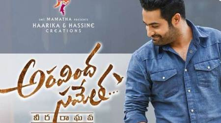 Jr NTR dons an uber cool look in new Aravindha Sametha poster