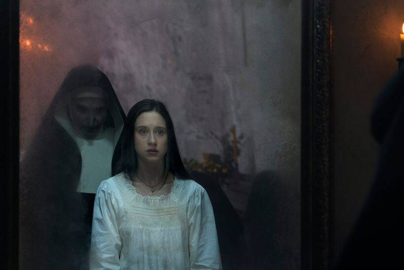 Bonnie Aarons as the nun and taissa farmiga as sister irene