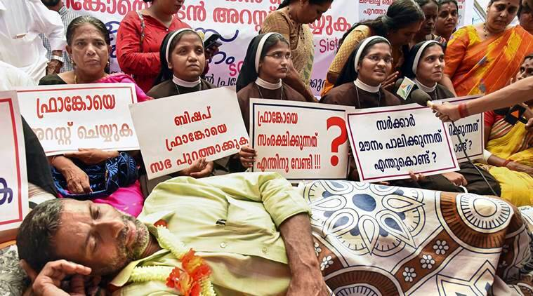 Nuns protest against probe in case against bishop