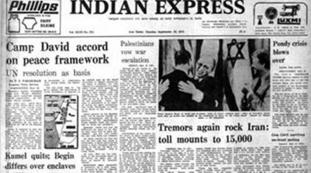 west asia agreement, jimmy carter, us president jimmy carter, camp david summit, indian express,Palestine Vows War