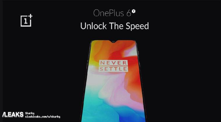 OnePlus 6T leaked poster reveals waterdrop-like notch, official slogan