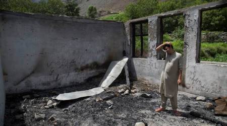 Arson spree at schools stokes suspicions of Pakistani forces