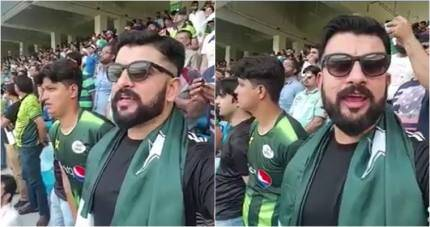 Video of Pakistani man signing Indian national anthem during Asia Cup match goes viral