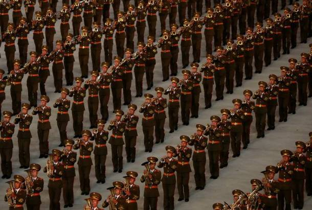 Drones and gymnasts: North Korea marks 70th anniversary with military parade