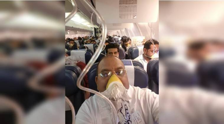 Jet Airways, Jet Airways turns back, Jet Airways cabin pressured drop, DGCA, Mumbai Jaipur jet airways flight, jet airways passengers fall ill, cabin pressure drops, India News, Indian Express