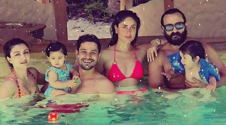 Taimur Inaaya Kareena Saif Soha ali khan Kunal kemmu maldives Pataudi family vacation photos