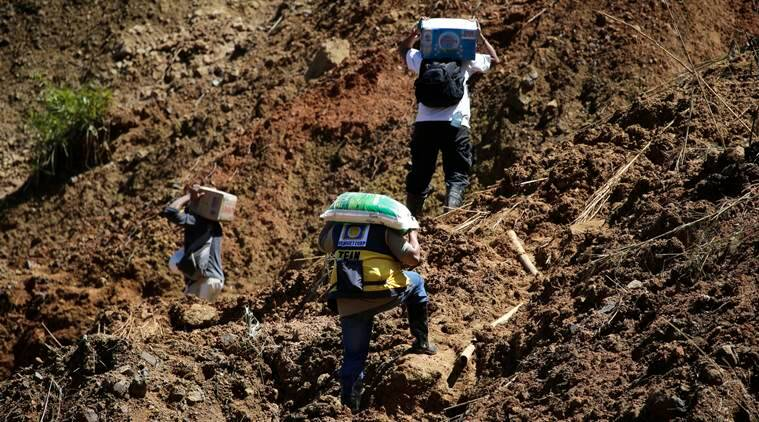 typhoon Mangkhut, Philippines, Philippines landslide, Philippines rescue operations, landslide death toll, Philippines weather, Philippines rain, Philippines storm, World News, Indian Express