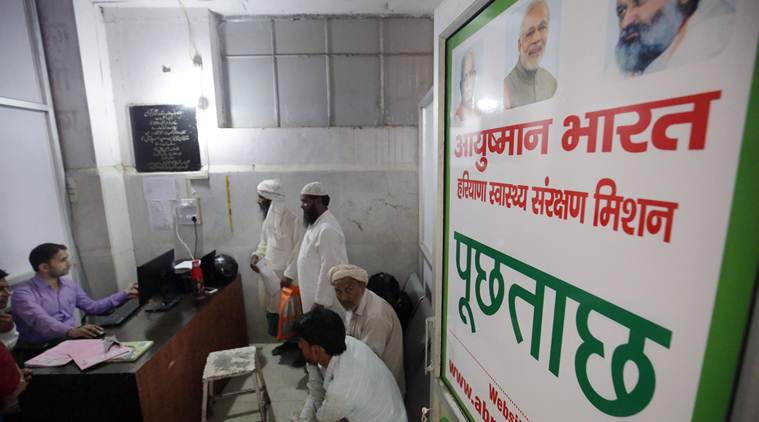 ayushman bharat, pmjay, pmjay healthcare, india health sector, congress manifesto health, bjp manifesto, elections manifestos, lok sabha elections, india general elections, indian express