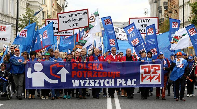 Poland: Thousands march in Warsaw demanding higher public sector pay