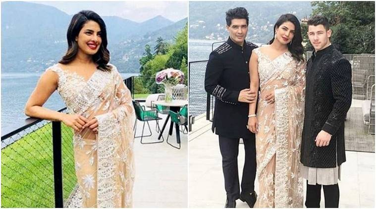 priyanka chopra, nick jonas, manish malhotra, isha ambani engagement bash, priyanka chopra manish malhotra, priyanka chopra nick jonas, priyanka chopra latest news, priyanka chopra latest photos, priyanka chopra updates, celeb fashion, bollywood fashion, indian express, indian express news