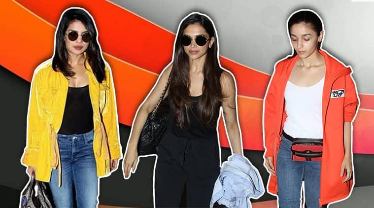 Best airport looks, Best airport looks bollywood, Deepika Padukone, Priyanka Chopra, Alia Bhatt, Janhvi Kapoor, Jacqueline Fernandez, celeb fashion, bollywood fashion, indian express, indian express news