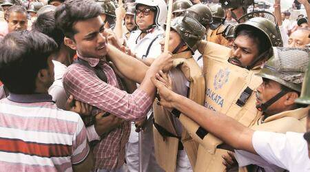 West Bengal: ABVP, SFI protest Islampurdeaths
