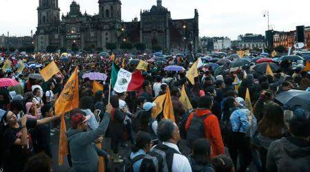 Thousands of students march in Mexico to protest violence