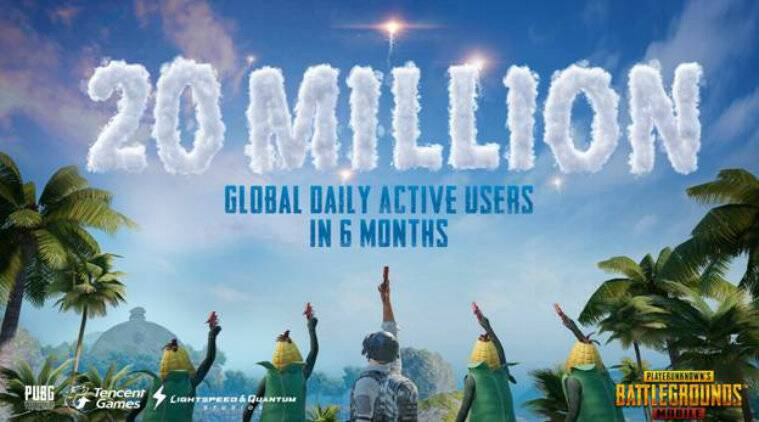 PUBG, PUBG Mobile, PUBG Mobile 20 million users, PUBG mobile Sanhok map, PUBG Mobile 20 million DAUs, PUBG Mobile season 2
