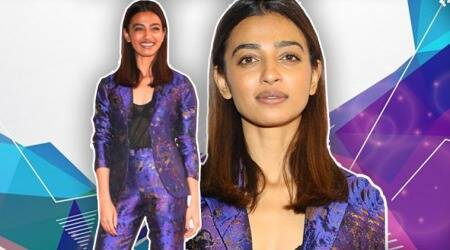 Radhika Apte looks sharp in this matching brocade pantsuit