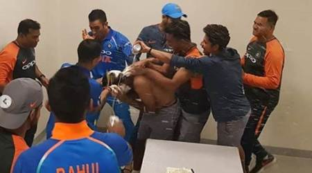 WATCH: India cricket team celebrates Ambati Rayudu's 33rd birthday in Dubai
