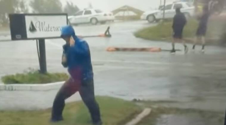Hurricane, Hurricane Florence, North american hurricane,, disaster america, hurricane damage, Weather Reporter, Weather Reporter video, Weather Reporter viral video,