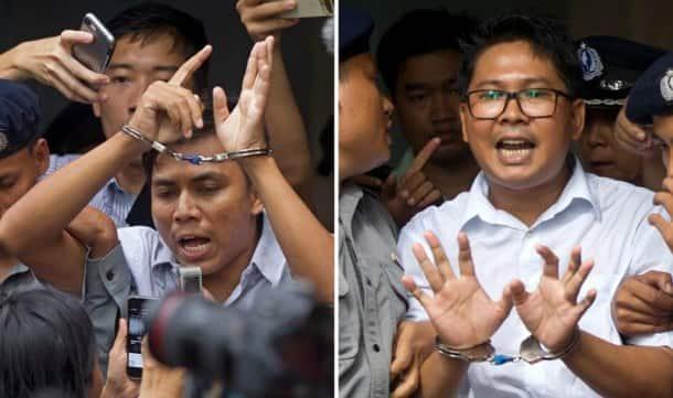 Myanmar court jails Reuters reporters for 7 years in landmark secrets case
