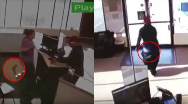 rovvery fails, epic robbery fail, failed robbery attempt, funny robbery videos, indian express, viral news,