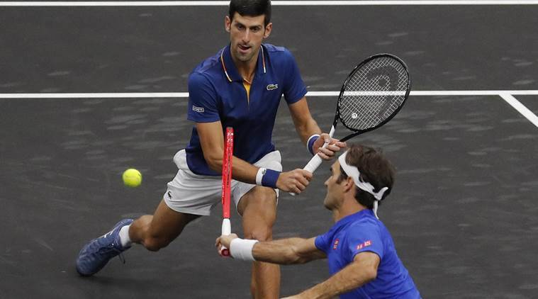 Laver Cup Novak Djokovic Hits Teammate Roger Federer During Doubles Match Watch Video Sports News The Indian Express