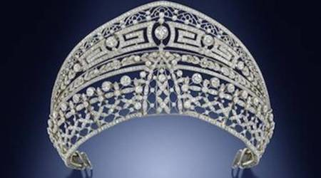 This royal tiara doubles as a choker and is going up for salesoon