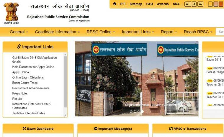 rpsc, rpsc admit card, ras pre result