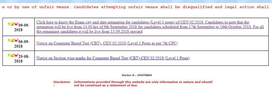 RRB, RRB admit card, rrbcdg.gov.in, RRB group D, RRB Group D admit card, RRB group D exam date