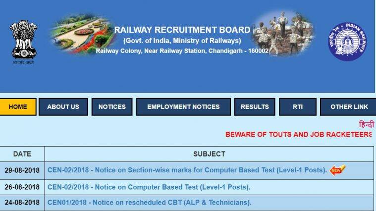 rrb exam date 2019 group d