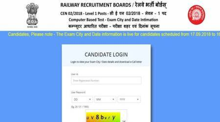 RRB Group D admit card: Download admit card for September 18, 19 and 20 exams