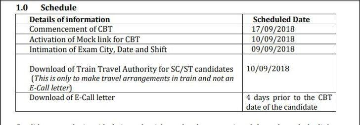 rrb, group d admit card, RRB Group D schedule