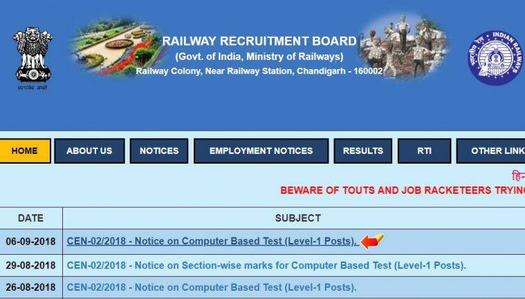RRB, RRB admit card, rrbcdg.gov.in, RRB group D